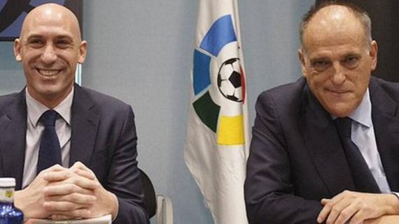 """Presidente de LaLiga: """"El VAR tuvo un antes y un después de la llamada de Florentino Pérez a Rubiales"""""""