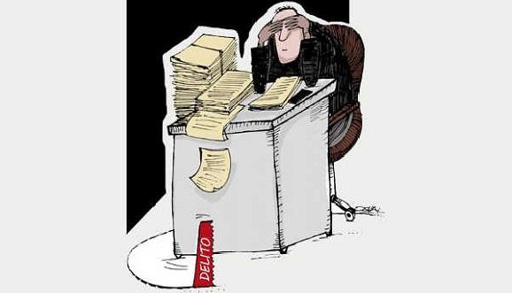 El descontrol le sirve la mesa al delito y a la corrupción administrativa. Ilustración: Osval