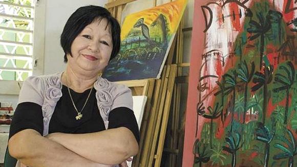 La artista cubana Flora Fong, descendiente de chinos. Foto: ARTE por Excelencias.