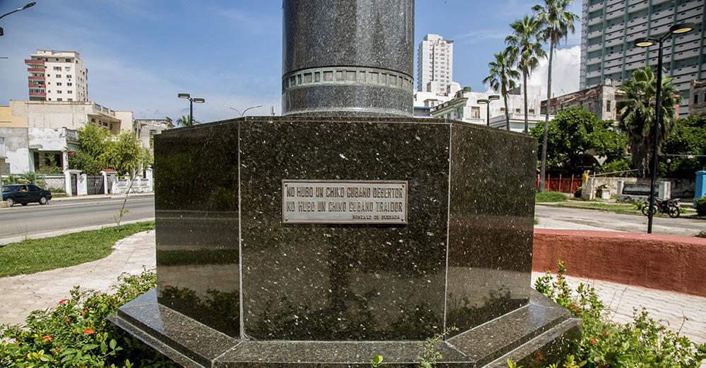"""No hubo un chino cubano desertor. No hubo un chino cubano traidor"". Foto: Ismael Francisco/ Cubadebate."