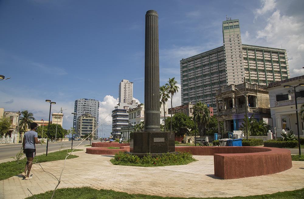 Monumento a la memoria de los chinos que combatieron por la independencia de Cuba, L y Línea, Vedado, La Habana. Foto: Ismael Francisco/ Cubadebate.