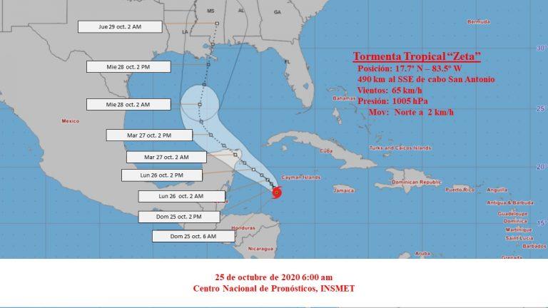 Se formó la tormenta tropical Zeta