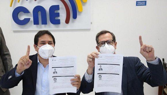 Consejo Nacional Electoral de Ecuador validó inscripción del binomio Arauz - Rabascall