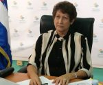 La ministra de Educación, Dra. Ena Elsa Velázquez Coubiella recibió la categoría Profesora emérita de la Universidad de Oriente. Foto: Twitter de la Ministra.