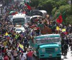 Los más de 5000 integrantes de diversos pueblos originarios exigen un encuentro con el presidente Iván Duque para presentarle sus reclamos. Foto: France24