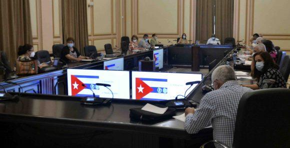 Esteban Lazo presidió reunión de directivos de Comisiones Permanentes de Trabajo