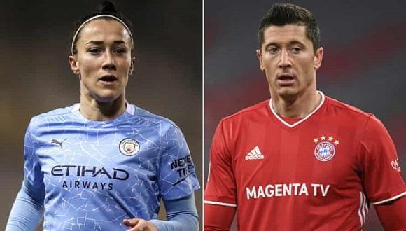 Bronze y Lewandoski tuvieron una formidable temporada, en la que ganaron la Liga de Campeones de Europa. Foto: The Guardian.