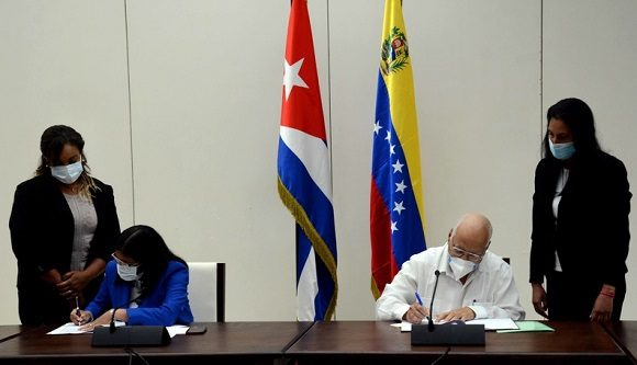 Cuba y Venezuela firman nuevos acuerdos de cooperación intergubernamental