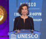 La directora general de la Unesco, Audrey Azoulay lamentó que el racismo resurja en el actual escenario de la pandemia de la Covid-19. Foto tomada de la transmisión en vivo del evento, en YouTube.