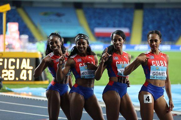 Oro para cubanas en el Campeonato Mundial de relevos de atletismo
