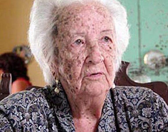 Esther Montes de Oca, madre de los hermanos Saíz, asesinados el 13 de agosto de 1957.