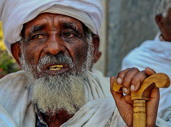 Anciano etíope. Foto: Ismael Francisco/ Cubadebate.
