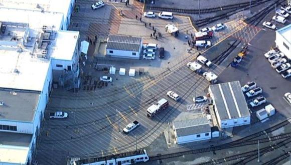 Lugar donde ocurrió el tiroteo en California. Foto: Tomada de Telesur