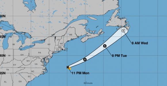 En la noche de este lunes se formó la segunda tormenta tropical de la temporada. Fuente NHC