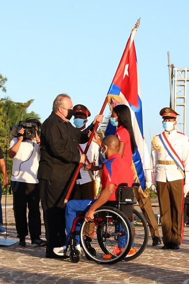 Abandera Primer Ministro delegación de Cuba a Juegos Paralímpicos de Tokio 2020