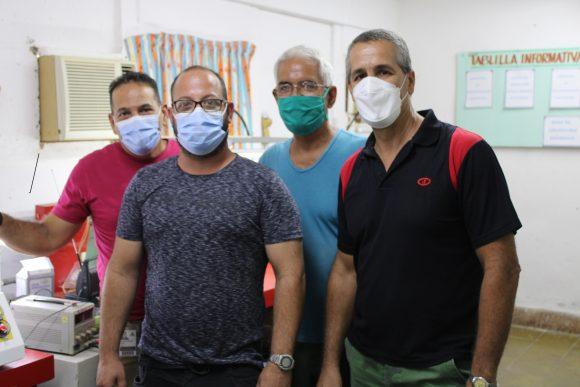 Trabajadores de CNEURO en Matanzas.