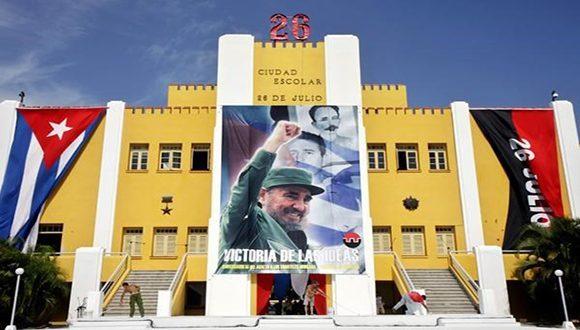 """Fidel está presente en cada """"Moncada"""" del pueblo cubano. Foto: Archivo."""