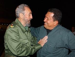 Llegó a Cuba el Presidente Hugo Chávez, fue recibido por Fidel