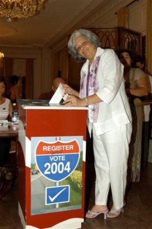 Reveladoras fotos muestran a  disidentes en La Habana votando por Bush en la embajada de EE.UU.